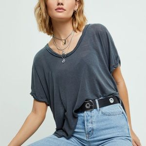 Free People Under the Sun  Shirt Black Small NWT